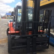 Used forklift front view