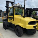 Yellow forklifts outdoor